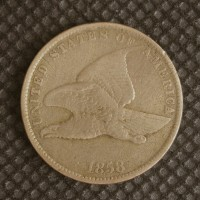 1858 SL FLYING EAGLE CENT 1c F12