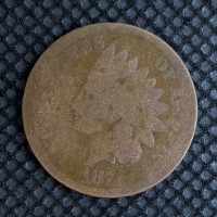 1874 INDIAN CENT 1c AG3