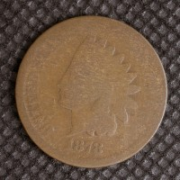 1878 INDIAN CENT 1c AG/G