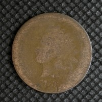 1876 INDIAN CENT 1c PO1
