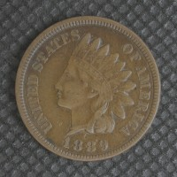 1889 INDIAN CENT 1c VF35