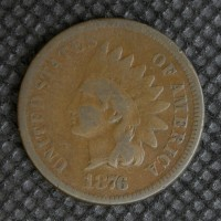 1876 INDIAN CENT 1c G6