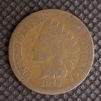 1879 INDIAN CENT 1c AG-G