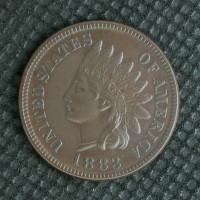 1883 INDIAN CENT 1c AU50