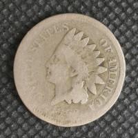 1862 INDIAN CENT 1c Fr/G
