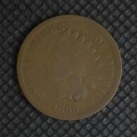 1866/6 INDIAN CENT 1c G5
