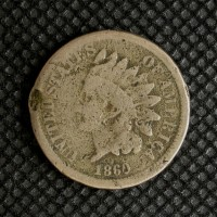 1860 Rounded Bust INDIAN CENT 1c G6