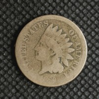 1860 Rounded Bust INDIAN CENT 1c AG3