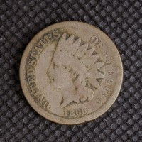 1860 Rounded Bust INDIAN CENT 1c G4