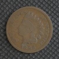 1886 Ty'2 INDIAN CENT 1c G4