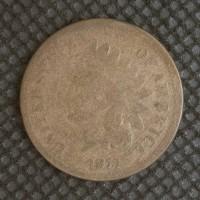 1873 Op3 INDIAN CENT 1c G4