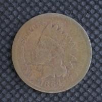 1864 L INDIAN CENT 1c G4
