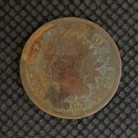 1864 BR INDIAN CENT 1c AG3