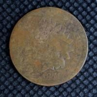 1874 INDIAN CENT 1c Fr2