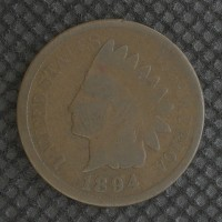 1894 INDIAN CENT 1c G4
