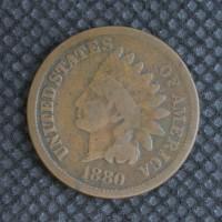 1880 INDIAN CENT 1c G4