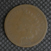 1876 INDIAN CENT 1c G4
