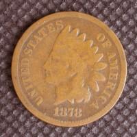 1878 INDIAN CENT 1c G4