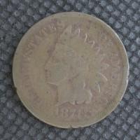 1874 INDIAN CENT 1c G4