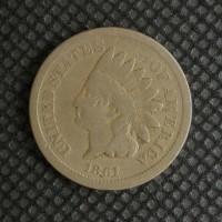 1861 INDIAN CENT 1c G4