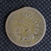 1862 INDIAN CENT 1c VG8