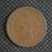 1879 INDIAN CENT 1c VG10