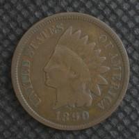 1890 INDIAN CENT 1c F12
