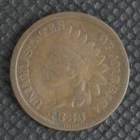 1883 INDIAN CENT 1c F12