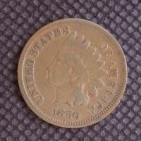 1880 INDIAN CENT 1c F12