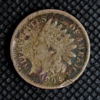 1862 INDIAN CENT 1c F12