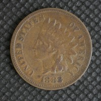 1882 INDIAN CENT 1c VF20