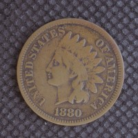 1880 INDIAN CENT 1c VF20