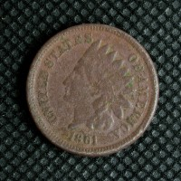 1861 INDIAN CENT 1c VF20