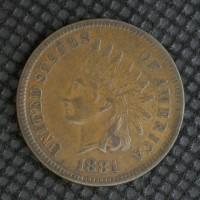 1881 INDIAN CENT 1c EF40