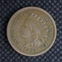 1862 INDIAN CENT 1c EF40