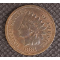 1881 INDIAN CENT 1c EF45