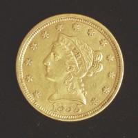 1855 LIBERTY $2 50 GOLD $2.50 EF45