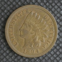 1894 INDIAN CENT 1c EF40