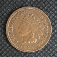 1886 Ty'1 INDIAN CENT 1c EF45