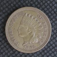 1862 INDIAN CENT 1c EF45