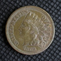 1862 INDIAN CENT 1c EF48