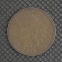 1864 L INDIAN CENT 1c F12