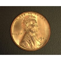 1940 LINCOLN WHEAT CENT 1c MS64 RB