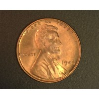 1945 LINCOLN WHEAT CENT 1c MS65 RB