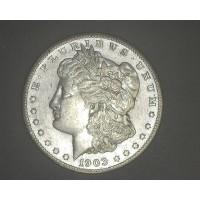 1903-S MORGAN DOLLAR $1 EF43