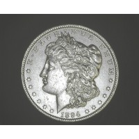 1894-O MORGAN DOLLAR $1 AU55