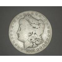 1893-CC MORGAN DOLLAR $1 VG8
