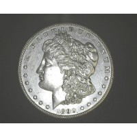 1899-S MORGAN DOLLAR $1 AU58