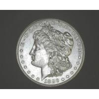 1886-S MORGAN DOLLAR $1 AU55