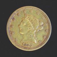 1856 LIBERTY $2 50 GOLD $2.50 EF40